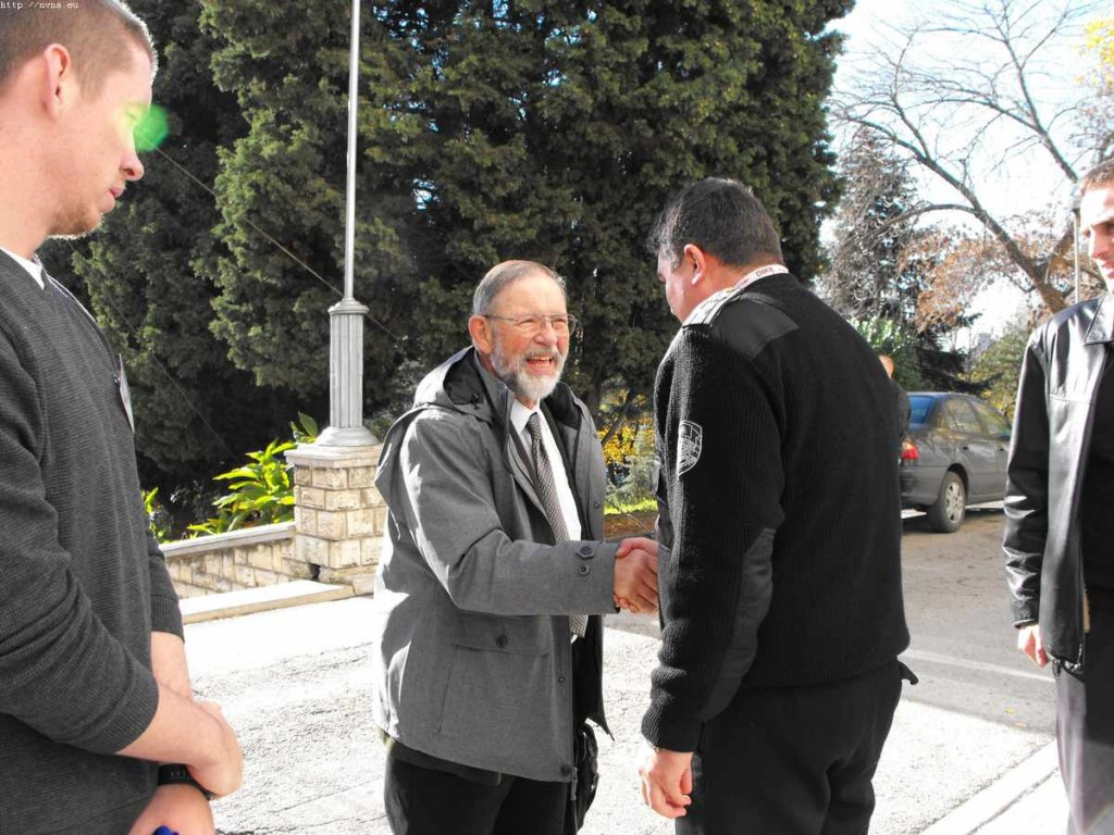 """Посрещане на професор Кархарт във ВВМУ""""Н.Й.Вапцаров"""" Варна"""
